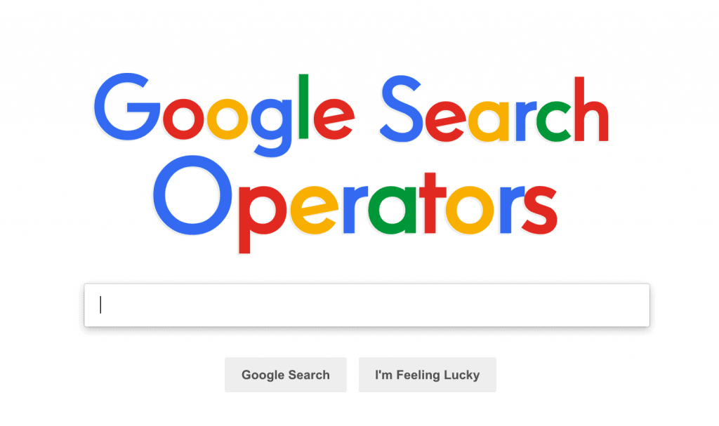 Google Advanced Search Operators